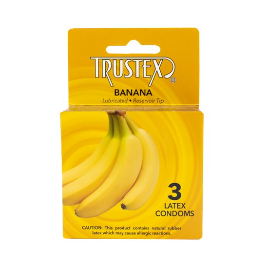Trustex Banana 3-pack, Case of 72