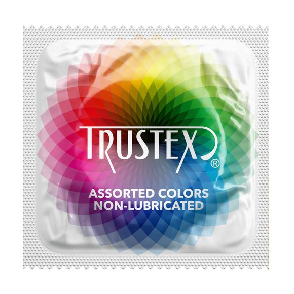 Trustex Assorted Colors Non-Lubricated,  Case of 1,000