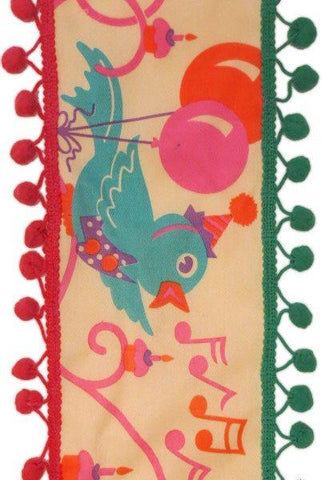 Mary Engelbreit Birthday Bird With Glitter Pompom Edge