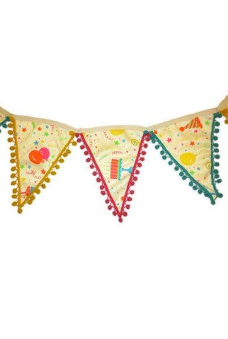 Mary Engelbreit Birthday Banner Pompom Edge