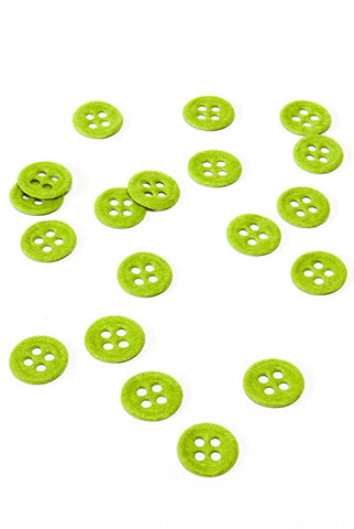 Felt Button 20Pk, Green