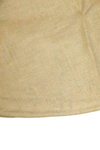 Burlap Table Skirt W Welting, Natural