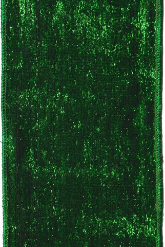 Faux Metallic Velvet With Lame Backing, Green