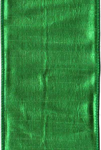 Faux Metallic Dupion, Kelly Green