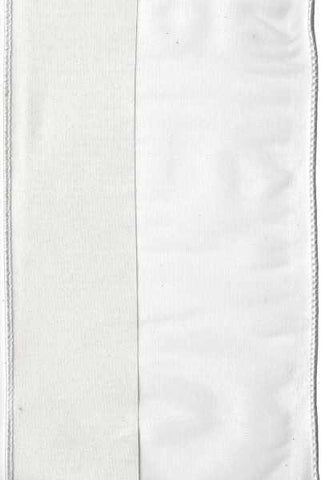5 Inch x 10 Yards tissue sheer w/single side off white taffeta ,off white