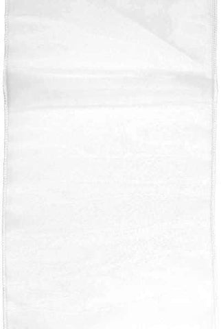 12 Inch x 84 Inch tissue silk runner, off white