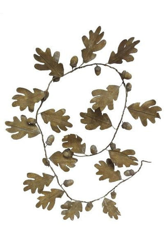 Acorn Garland With Leaves And Driftwood