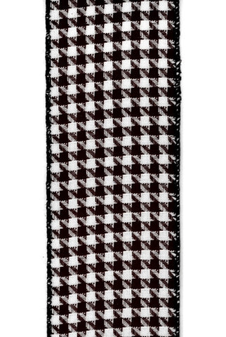 Faux Linen Houndstooth, Black White