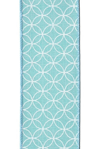 Linen Geo-Pattern, Teal ,White