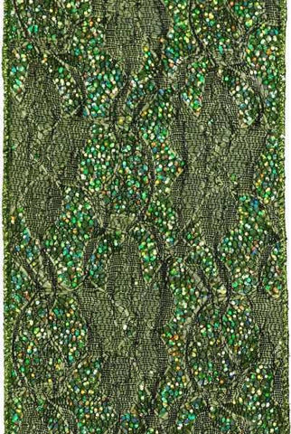 Metallic Lace Bright Green