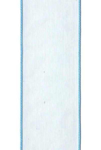 2.5 Inch x 10 Yards organza sheer, light blue