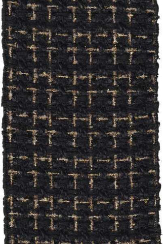 Boucle Metallic Threads Black