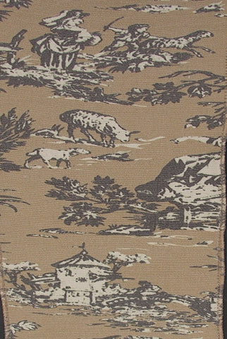 Vintage Toile, Brown,Cream...Designed By D.Stevens