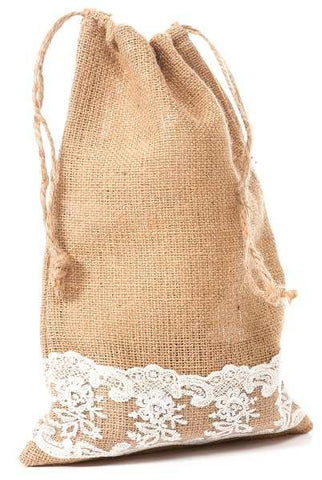 Burlap And Lace Bag...Designed By D.Stevens