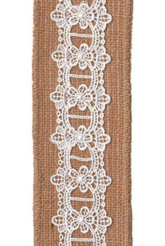 Burlap Eyelet Lace, Natural...Designed By D.Stevens