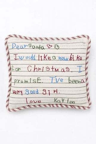 Dear Santa Kaylee Pillow...Designed By D.Stevens