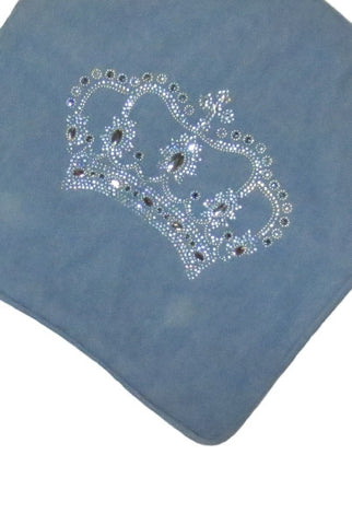 Pillow Denim, Jeweled Crown Cover Only...Designed By D.Stevens