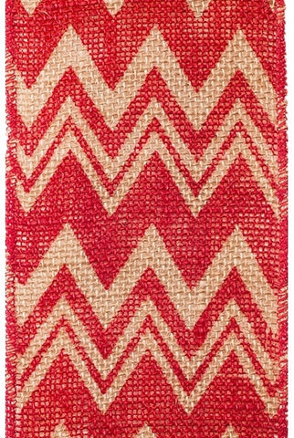 Chevron Printed Burlap,Red...Designed By D.Stevens