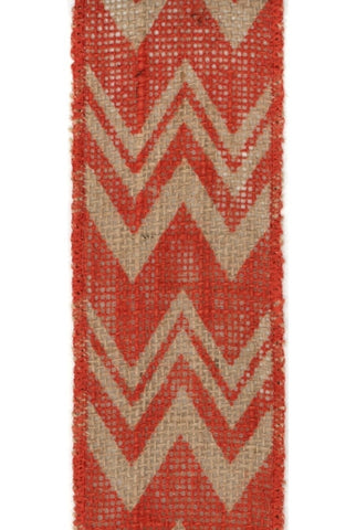 Chevron Printed Burlap, Orange...Designed By D.Stevens