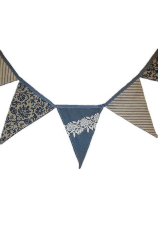 Bunting Flags, Denim, Ticking, Floral Pattern...Designed By D.Stevens