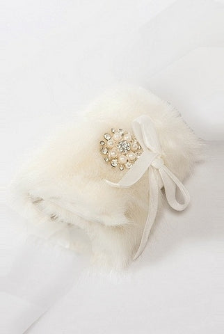 Bouquet Wrap, Mink,Medallion, White...Designed By D.Stevens