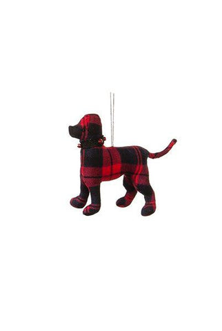 Wool Dog Ornaments, Red/Black Plaid...Designed By D.Stevens