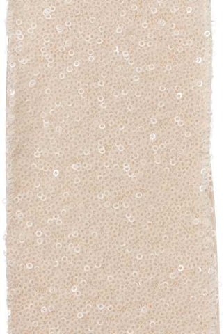 4 Inch X 10Yds Solid Sequins With Taffeta Back Sand