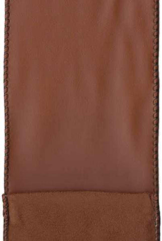 Faux Leather With Suede Back Sable Brown