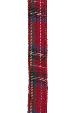 Faux Wool Felt Wired Garland Red Plaid