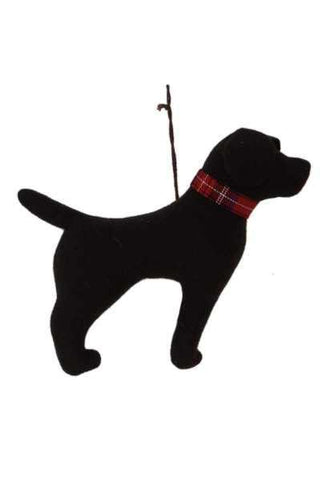 7.5 Inch Faux Wool Dog Christmas Ornament Chocolate