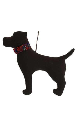 Faux Wool Dog Christmas Ornament Chocolate