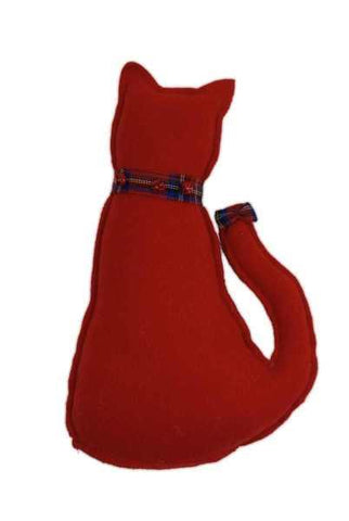12 Inch Faux Wool Cat Tree Smacker Red