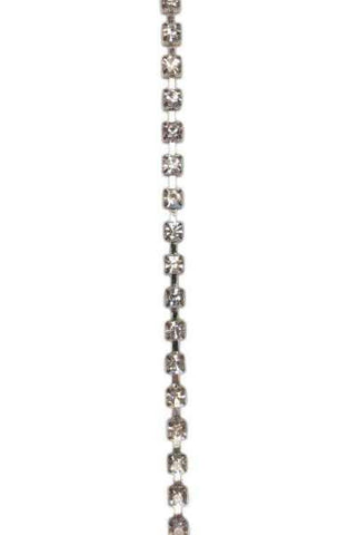 Large Crystal Single Row Chain..Jewels By The Yard