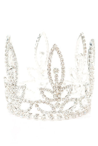 Cathedral Crystal Crown Ornament, Silver