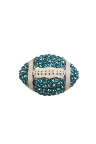 Crystal Football, Teal/White/Silver