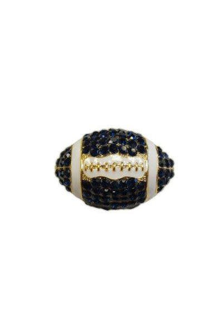 Crystal Football, Royal Blue,White,Gold