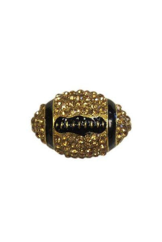 Crystal Football, Gold,Black,Gold