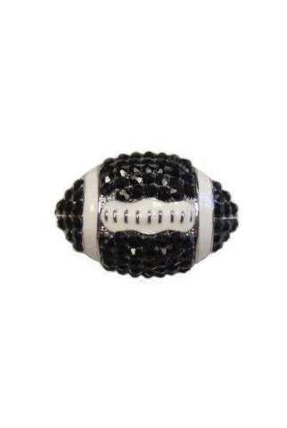 Crystal Football, Black,White,Silver