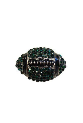 Crystal Football, Emerald,Black,Silver