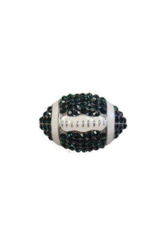 Crystal Football, Emerald,White,Silver