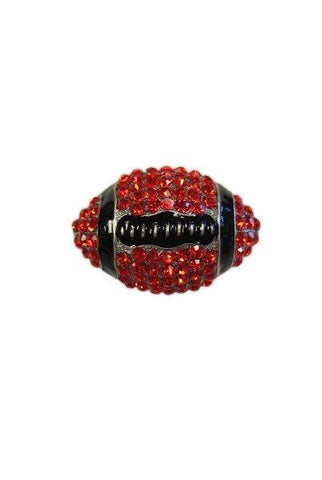 Crystal Football, Red,Black,Silver