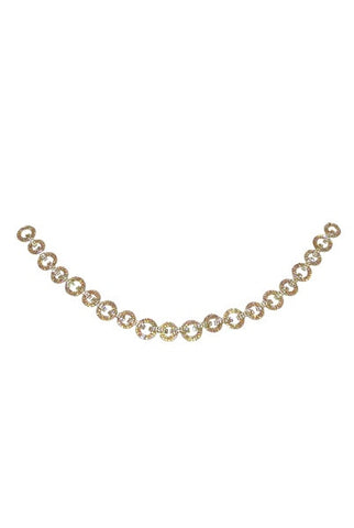 Jeweled Chain Swag, Gold  Base, Clear Ab