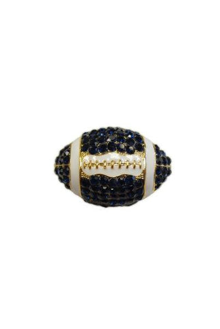 Crystal Football, Navy Blue/White/Gold