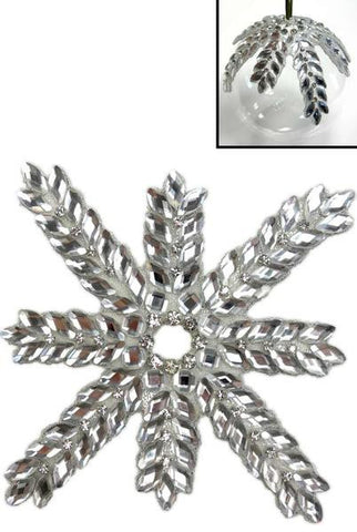 Crystal Snowflake Ornament Enhancer Crystal Clear