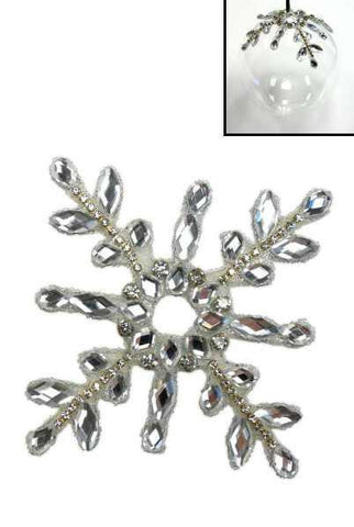 Mirror Snowflake Ornament Enhancer Clear Gold