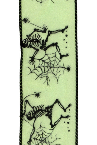 Skeleton Dance Sheer, Acid Green,Black