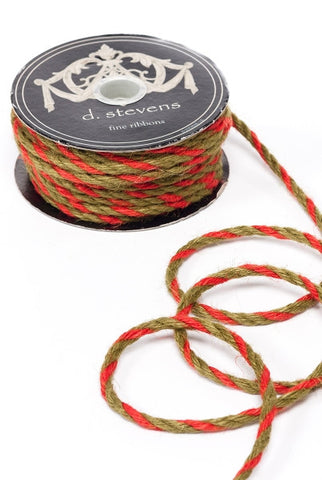 Jute Cord, Red,Green