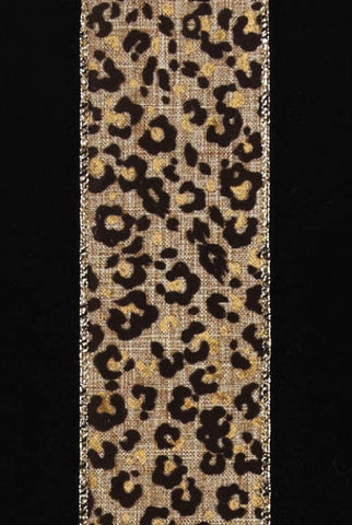 Linen Leopard, Brown,Gold