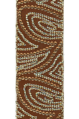 Gold Sequin Paisley, Copper Gold