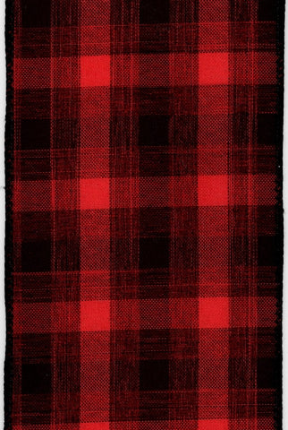 Linen Plaid, Red/Black